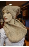 Set Bonnet & Col TAUPE