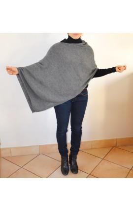 Poncho Asymétrique -  GRIS