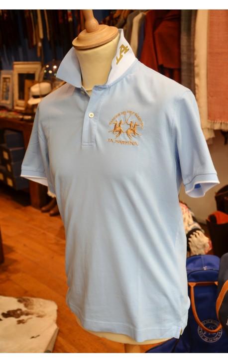 Polo La Martina Classic CELESTE