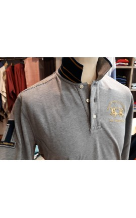 Polo La Martina STEFANO Heather Grey