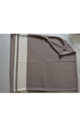 Poncho AVEC BANDES - TAUPE
