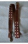Anse 3,5 cm - TISSU PAMPA ROMBITOS _Cuir Marron