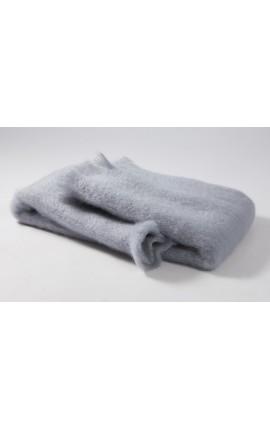 Echarpe châle gris indigo